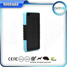 rechargeable external solar power bank , solar external mobile power