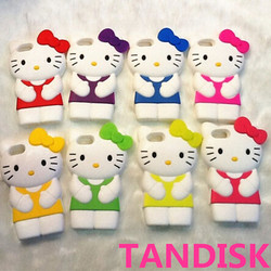 Phone case hello kitty 3d silicone case for iphone 4/4s, for iphone case 4s/5s/6