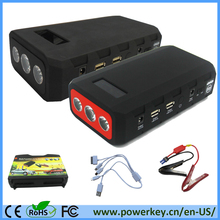 Peak current 800A battery power booster jump starter 24000mAh high power jump stater with 5V/2.1A&5V/2A USB ports&19V for laptop