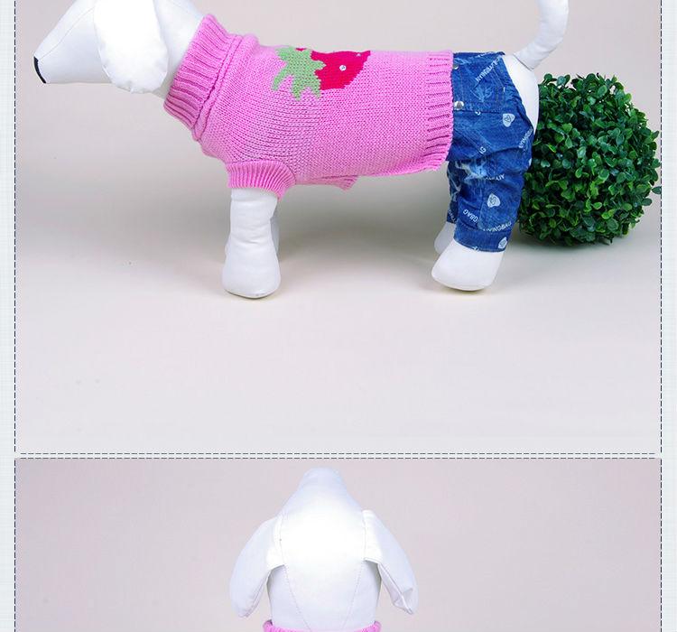 Al por mayor-libre del envío del suéter del perro que hace punto patrón al  por mayor de punto suéteres de perro ropa de invierno para mascotas ...