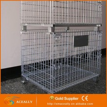 Wire steel storage container cage pallet galvanized metal wire mesh for cage