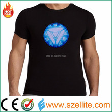 China wholesale factory price sound activated led light tshirts