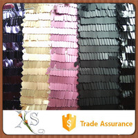 10mm Rectangle Hanging Sequin Mesh Fabric