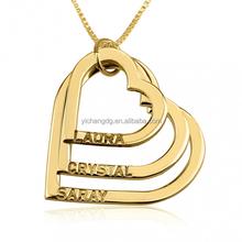 Custom Stainless Steel Women Gold Heart Pendant,14K Gold Stainless Steel Pendant