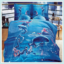 100 % Polyester Brushed Bed Sheet 3d printed Printed Fabric cut 470cm