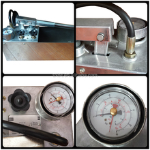 50 bar manual water pressure pump test bench RP-50-2 with 45M/L