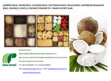HOT SALE Rice/ Noodle/ Pasta/ Vermicelli/ Coconut Products - MADE IN VIET NAM