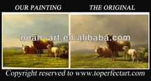 Handpainted sheep oil painting from xiamen