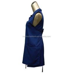 blue salon cheap custom apron for wholesale