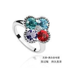 2011 fashion high quality crystal platinum rings