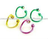 twister nickel free body piercing jewelry nose rings