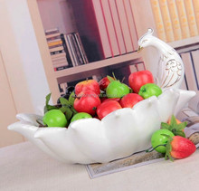 chinese crafts ceramic beauty peacock shape deep plate storage candy wholesale sale on alibaba china