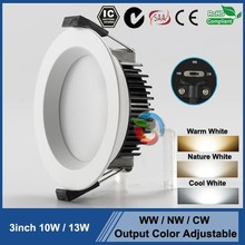 SAA approval downlight White /Nickel/ Chrome brushed 3000k warm white ip44 SAA fluorescent light fixture