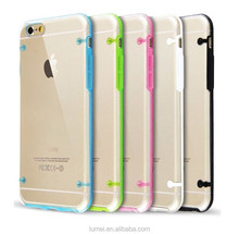 Transparent Clear Silicone Bumper Case and Screen Protector For iPhone 6