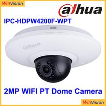 Dahua 3x Zoom Camera Dahua 2MP WIFI IPC Dahua Mini Pan Tilt Dome Camera IPC-HDPW4200F-WPT