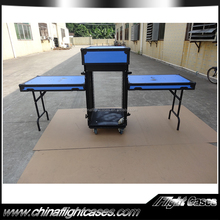 Custom made 18u shock mount rack case with double tables for sale