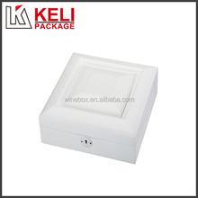 New design white color wooden jewelry box