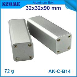 small aluminum box instrument case with heat sink