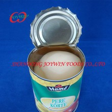 Wholesale cheap price canned food, canned pears halves in light syrup, pear canning syrup