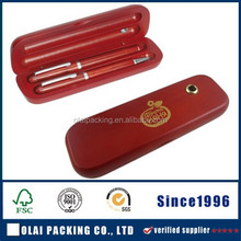 deluxe red double wooden pen box for wholesale