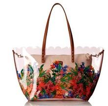 2015 popular pvc tote bag pvc handbags felt pvc tote bag