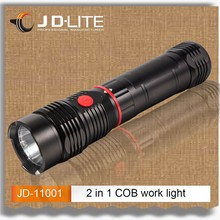 200 lumens COB work light with Extendable body and magnetic INNOVATIVE 2 in 1 Flashlight&Worklight