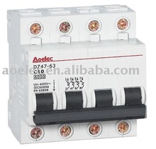 DZ47 C45 4.5kA Miniature Circuit Breaker