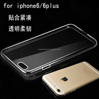 Cell phone accessory ultrathin clear crystal gel soft tpu phone case for apple iphone 6