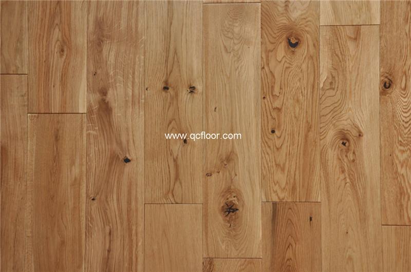 125 미리메터 넓은 자연 화이트 오크 단단한 나무 바닥-목재 ...