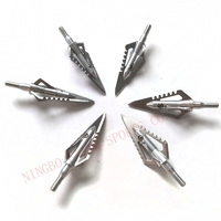 Arrow broadhead for archery and outdoor sports hunting high quality 100 grain silver stainless steel arrow heads