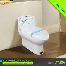 sanitary ware ceramic silent one piece toilet