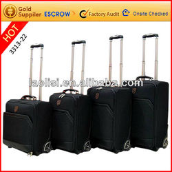 2013 autumn hot selling leather luggage trolley bag/airport baggage luggager/suitcase parts roll trolley bag