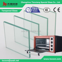 3/4/5/6mm tempered glass for oven door China supplier