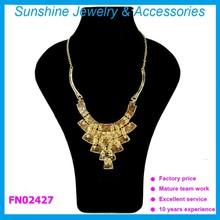Sunshine saudi gold necklace fashion jewelry made in china wholesale