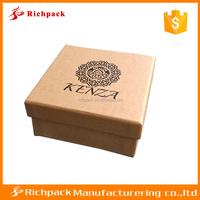 Custom logo printed recycled cardboard luxury 2 piece gift box packaging, kraft paper box,