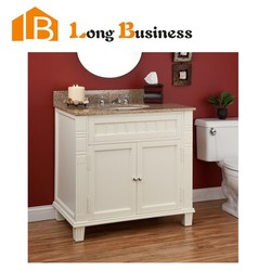 LB-LX2088 New and popular solid wood bathroom vanity with leg
