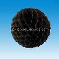 black flower edge hanging paper Honeycomb balls for outdoor christmas decorations