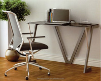 office counter table design simple glass computer table desk 40008W2