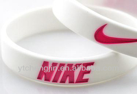 Best selling debossed logo with color filled hand band