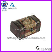Traditional ancient wooden treasure chest as gift
