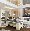 Blanco de diseño moderno de lujo mesa de la sala