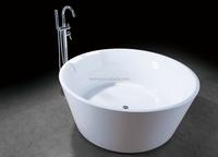 120cm small round two person freestanding bathtub