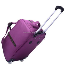 20 / 24inch eminent purple red ladies luggage trolley travel bags on 2 wheels