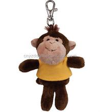 plush keychain monkey/stuffed plush monkey keychain/hot sale from china