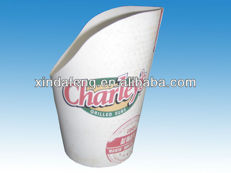 disposable paper french fries cup