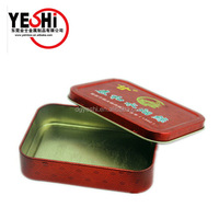Promotional cigarette Rectangular Shape Tin Can, Metal cigarette Tin Box
