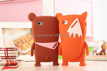 Newest 3D Cartoon Romane Monomate Mocco Fox Moyo Bear Soft Silicone Case Cover For iphone 5g 5s iphone5