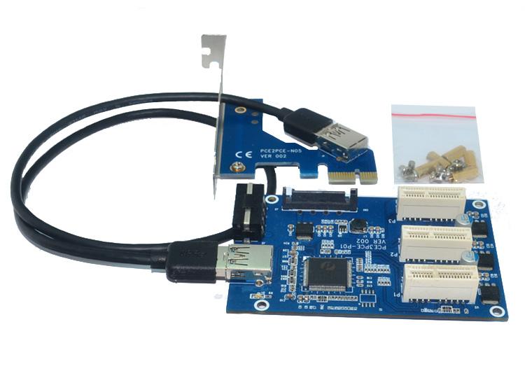 Más nuevo PCIe 1 a <span class=keywords><strong>3</strong></span> <span class=keywords><strong>PCI</strong></span> 1 expreso tarjeta vertical slot