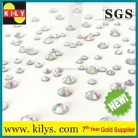 wholesale 100 Gross DIY Resin 14 facets Rhinestone 3mm round Flatback Crystal AB