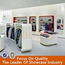 high quality retail garment shop interior design furniture for garment display